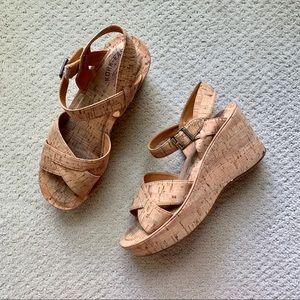 Kork-Ease Ava Cork Platform Sandal Wedge